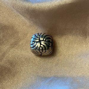 RARE Retired Pandora Swirl Cube Charm